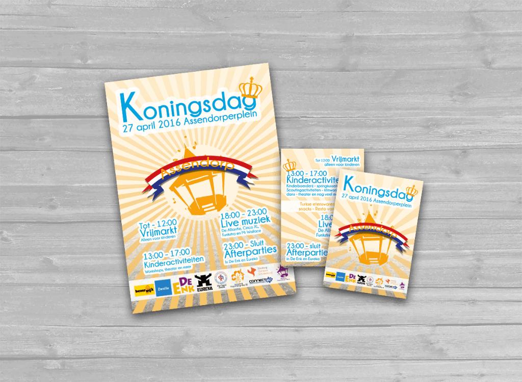 koningsdag assendorp flyer en poster