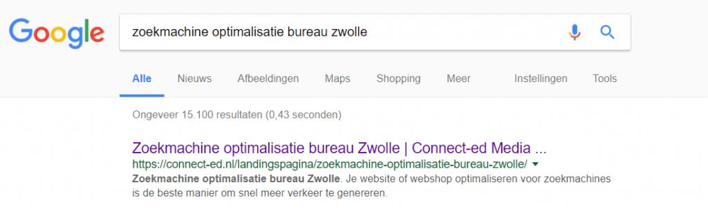 long tail zoekworden en lokale zoekmachine optimalisatie voor nieuwe website