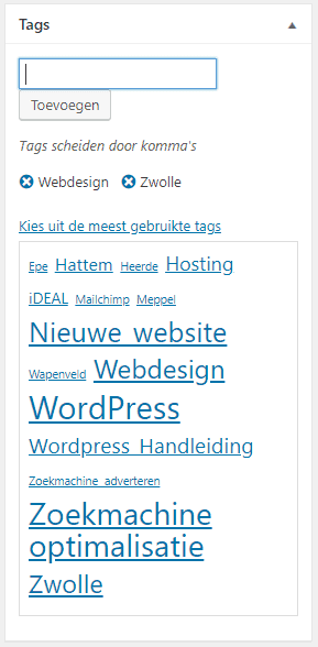tags-kiezen-wordpress-webdesign