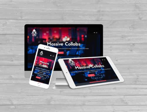 WordPress website voor Massive Collabs MGMT