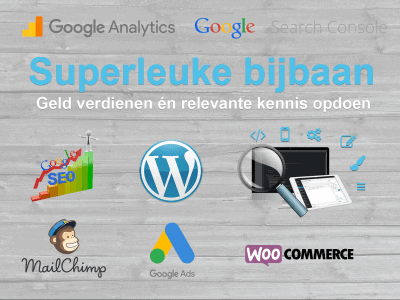wordpress mailchimp google SEO bijbaan vacature