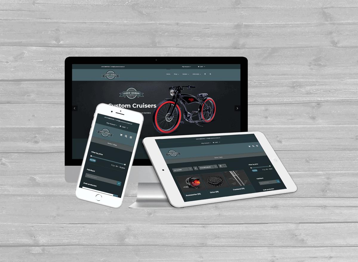 customcruisers zwolle WooCommerce webshop