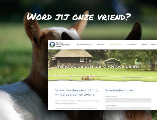 Vriendenformulier met automatische incasso voor Stichting kinderboerderijen Zwolle
