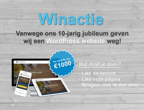 10-jarig jubileum: Win een WordPress website ter waarde van €1000,-