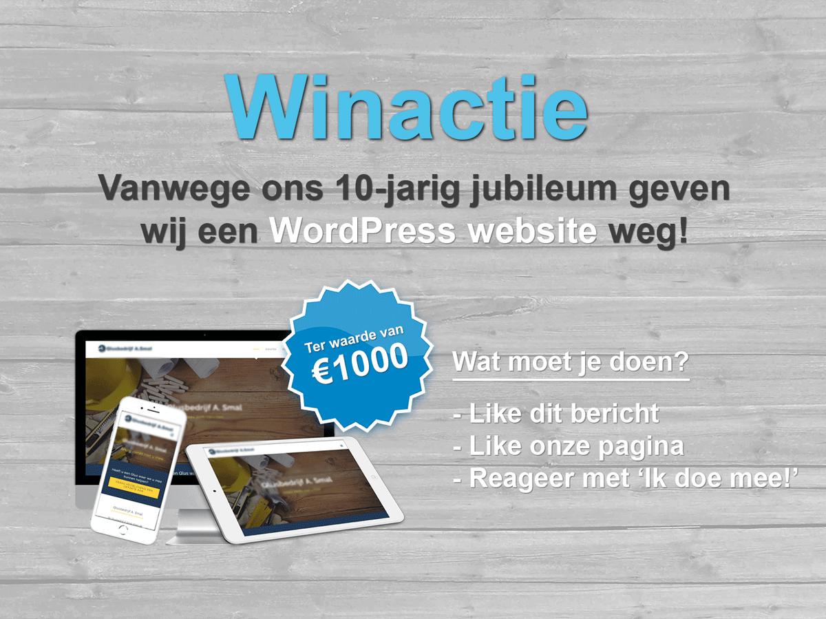 jubileum winactie wordpress website
